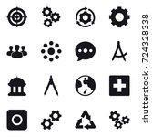 16 vector icon set   target ... | Shutterstock .eps vector #724328338