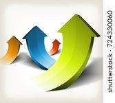 abstract rising arrows ... | Shutterstock .eps vector #724330060