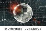 cryptocurrency ripple in... | Shutterstock . vector #724330978