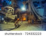 steel making workshop  | Shutterstock . vector #724332223