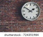 white classic clock hang...   Shutterstock . vector #724351984