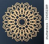 laser cutting mandala. golden...   Shutterstock .eps vector #724352389