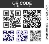 qr code set vector. different... | Shutterstock .eps vector #724352974
