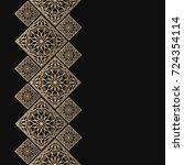 golden frame in oriental style. ... | Shutterstock .eps vector #724354114