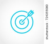 target and arrow icon isolated... | Shutterstock .eps vector #724355080