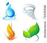 illustration of four element of ...   Shutterstock .eps vector #72435568