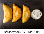 venezuelan typical food ... | Shutterstock . vector #724356184