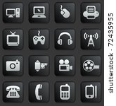 technology icon on square black ...   Shutterstock .eps vector #72435955