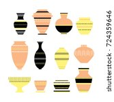 pottery icon set. stock vector... | Shutterstock .eps vector #724359646