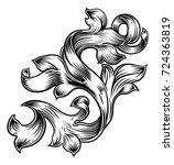 a filigree floral pattern... | Shutterstock .eps vector #724363819