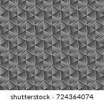 hexagonal parametric background.... | Shutterstock .eps vector #724364074