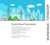flyer electric power... | Shutterstock .eps vector #724366339