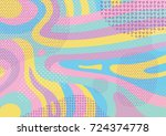 creative geometric colorful... | Shutterstock .eps vector #724374778
