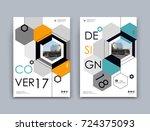 white  black info mockup. a4... | Shutterstock .eps vector #724375093