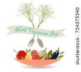 world vegeterian day card