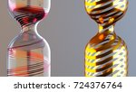 abstract decorative glass vase... | Shutterstock . vector #724376764