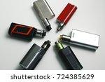 popular vaping device mod...   Shutterstock . vector #724385629