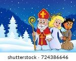 saint nicholas day theme 4  ... | Shutterstock .eps vector #724386646