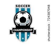 soccer championship | Shutterstock .eps vector #724387048