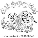 black and white cartoon vector... | Shutterstock .eps vector #724388068