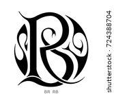 monogram r b   b r | Shutterstock .eps vector #724388704