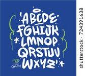 handmade urban font | Shutterstock .eps vector #724391638