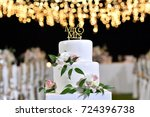 wedding cake  | Shutterstock . vector #724396738
