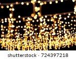 fairy lights   wedding setup  | Shutterstock . vector #724397218