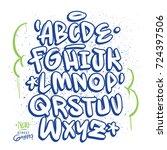 handmade graffiti font   Shutterstock .eps vector #724397506
