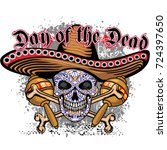 holy death  day of the dead ... | Shutterstock .eps vector #724397650
