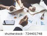 business team support and... | Shutterstock . vector #724401748