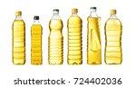 vegetable or sunflower oil in... | Shutterstock . vector #724402036