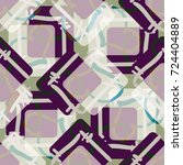 new colorful seamless pattern... | Shutterstock . vector #724404889