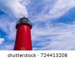 milwaukee lighthouse on sunny... | Shutterstock . vector #724413208