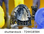 the lower jaw man  created on a ... | Shutterstock . vector #724418584