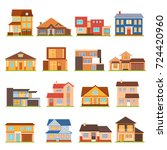 decorative collection of modern ... | Shutterstock . vector #724420960