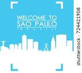 welcome to sao paulo brazil... | Shutterstock .eps vector #724421908