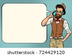 hipster man with a smartphone.... | Shutterstock .eps vector #724429120