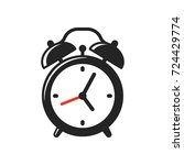 alarm clock icon or logo. retro ... | Shutterstock .eps vector #724429774