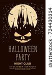vector banner for halloween...   Shutterstock .eps vector #724430314