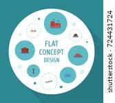 flat icons bridge  drought ... | Shutterstock .eps vector #724431724