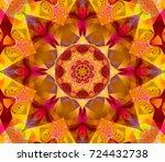 Seamless Red Kaleidoscope...
