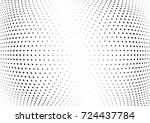 abstract halftone wave dotted... | Shutterstock .eps vector #724437784