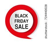 black friday sale inscription...   Shutterstock .eps vector #724440028