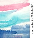 abstract watercolor painting ... | Shutterstock . vector #724444588