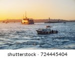 Evening Bosphorus Sunset With...