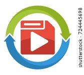 logo icon for multimedia file... | Shutterstock .eps vector #724445698