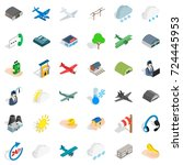 wind icons set. isometric style ... | Shutterstock .eps vector #724445953