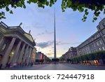 spire famous landmark in dublin ...   Shutterstock . vector #724447918