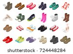 man and woman shoes icon set.... | Shutterstock .eps vector #724448284
